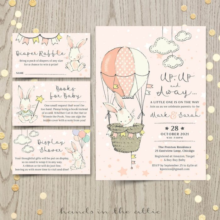 Little Bunny Baby Shower Invitation