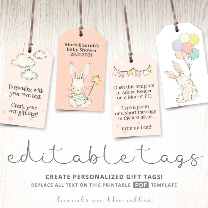 Little Bunny Gift Tags Template