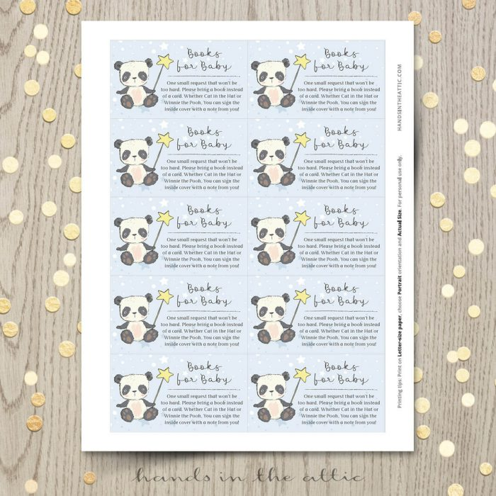 Little Panda Baby Shower Cards