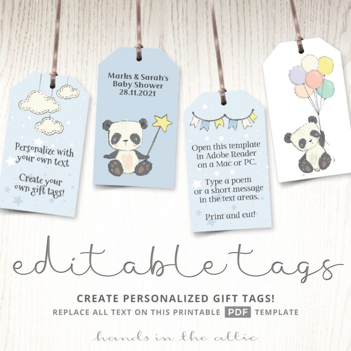 Panda Bear Gift Tags