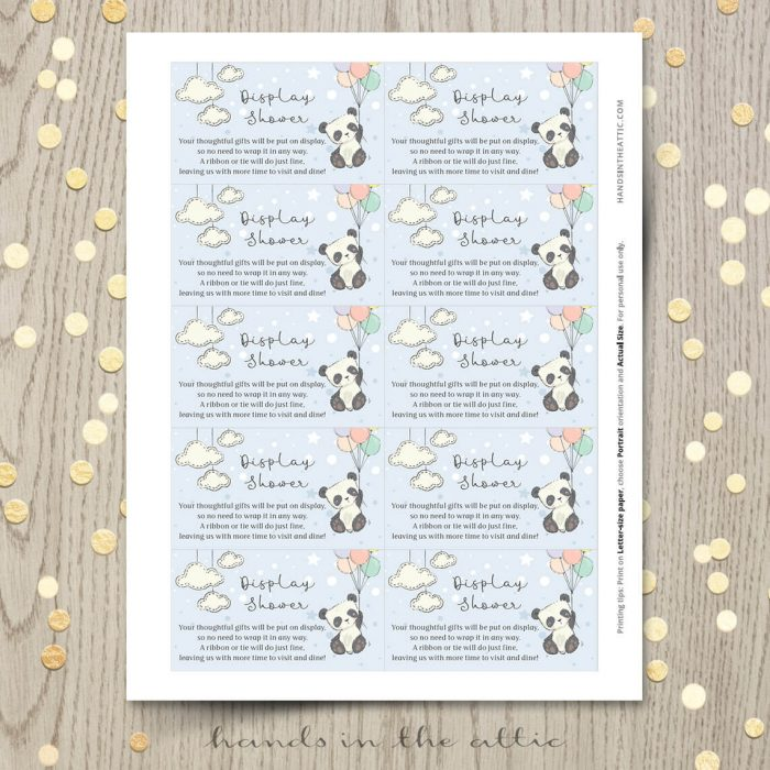 Printable Invitation For Baby Shower Panda Bear