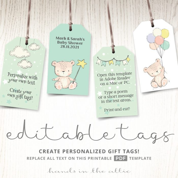 Printable Gift Tags Archives Hands In The Attic