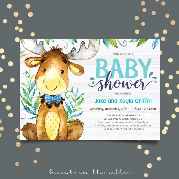 Hunting Little Buck Baby Shower Invitation