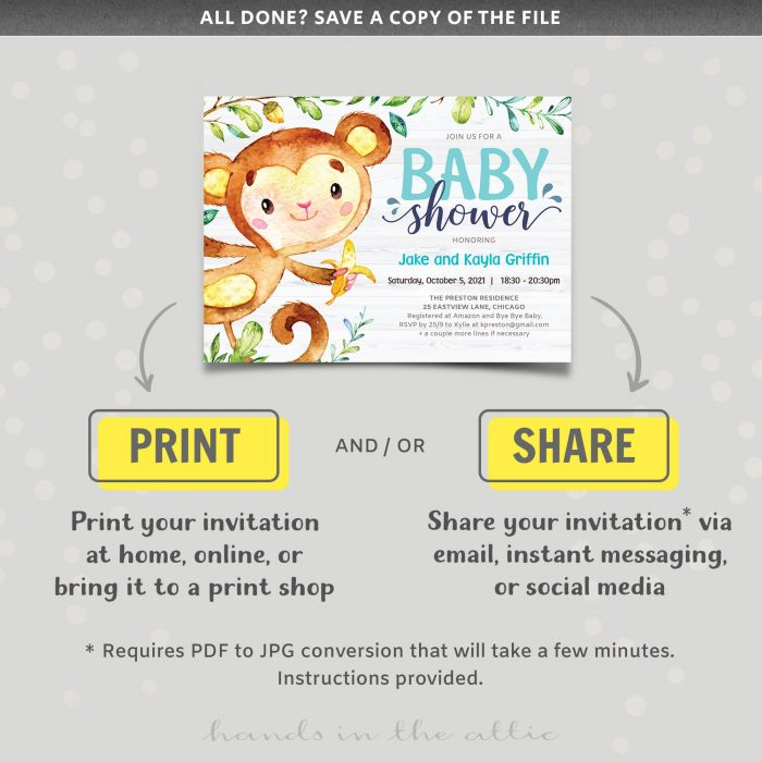Monkey Themed Baby Shower