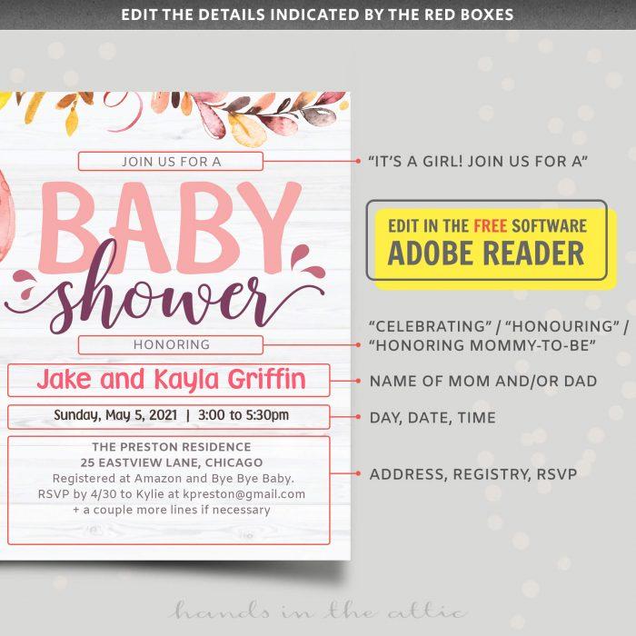 Piglet Baby Shower Invitation