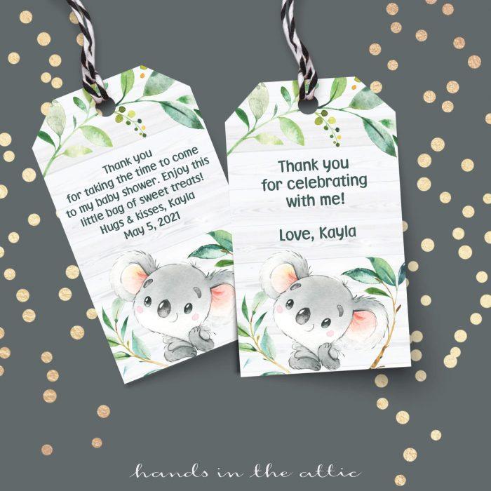 Bush Baby Koala Gift Tags