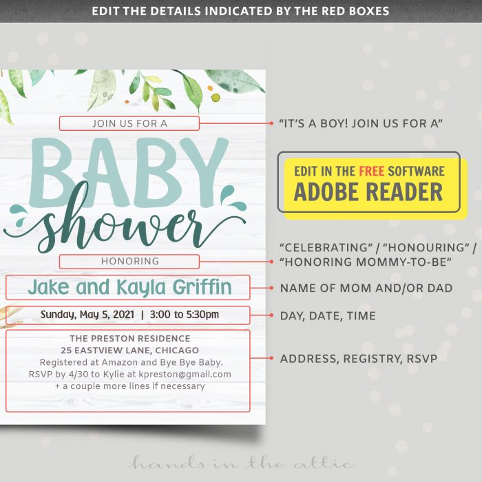 Koala Boy Baby Shower Invitation