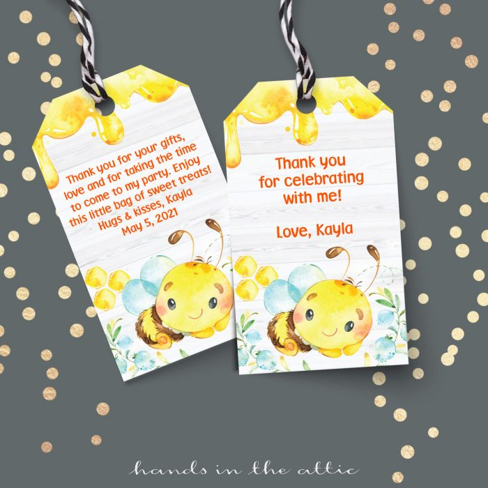 Mommy To Bee Gift Tags